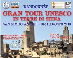 manifesto Gran Tour Unesco Bike Gran Tour Unesco in Siena