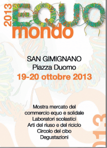 La locandina di Equomondo 2013 216x300  Equomondo, a whole weekend of colors and flavors dedicated to the fair trade market