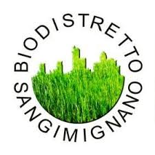 logo biodistretto San Gimignano is increasingly greener