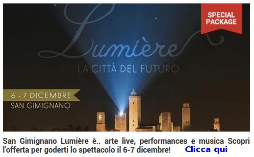 sangimignano siena lumiere 2014 Ponte dellImmacolata a San Gimignano: Lumiere, la città del futuro