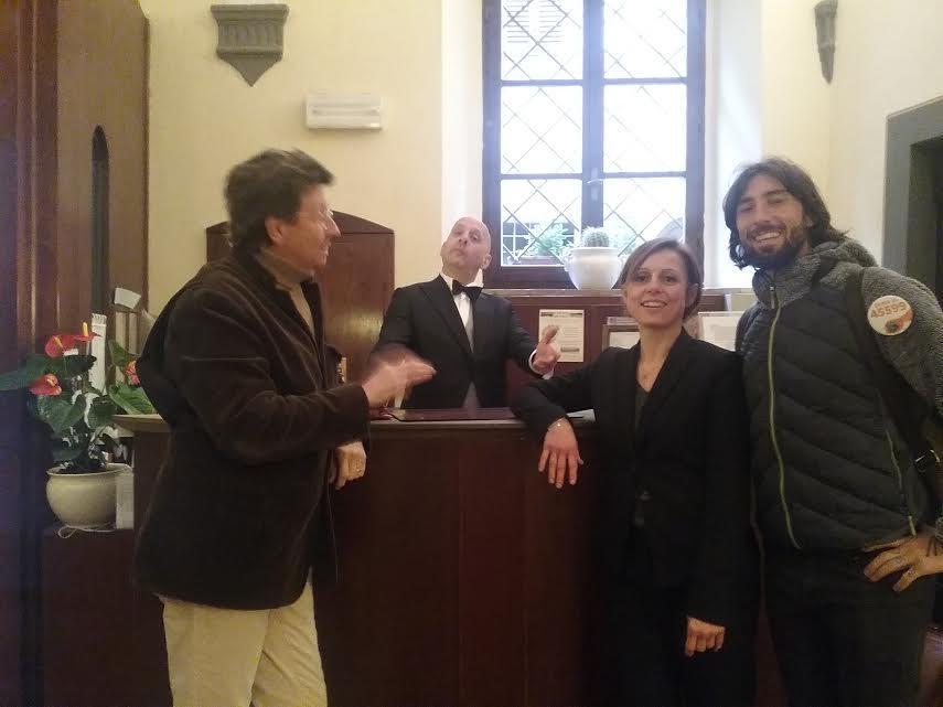 Vittorio Brumotti a san Gimignano